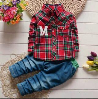 Setelan Baju Kemeja Anak Laki-laki Keren Model Terbaru