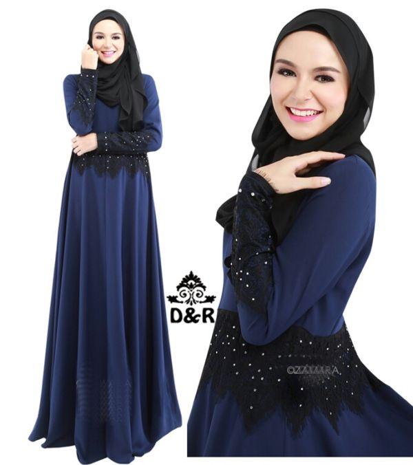 Setelan Hijab Busana Muslim Wanita Modern Gamis Model Terbaru