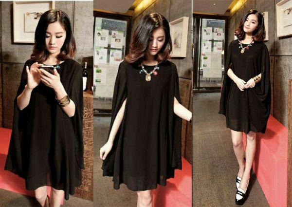 Baju Dress Pendek Cantik dan Murah Warna Hitam Terbaru