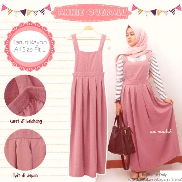 Baju Jumpsuit Overall Rok Kodok Muslim Terbaru Cantik & Murah