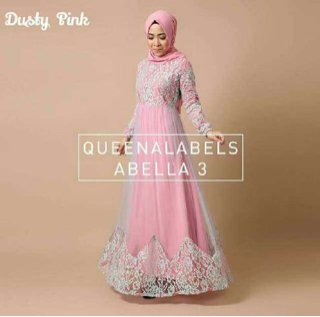 Baju Long Dress Hijab Model Gamis Terbaru Cantik Modern & Murah