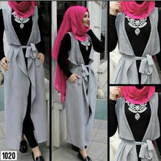 Baju Muslim Wanita Modern Setelan Hijab Celana Long Cardi Murah