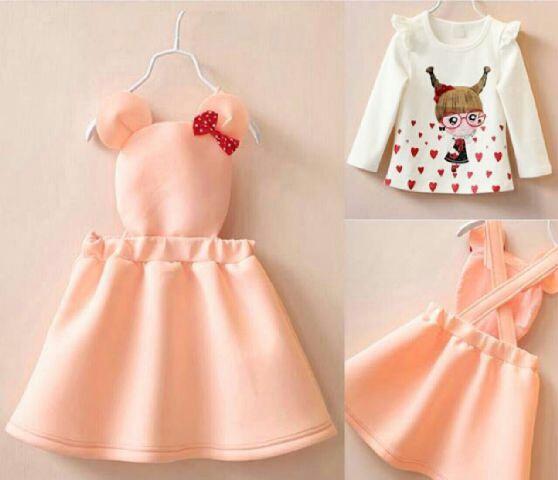 Baju Setelan Anak Perempuan Overall Cantik Lucu Model Terbaru