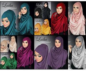 Jilbab Instan Syria Laiba & Ciput Kerut Cantik Murah Model Terbaru