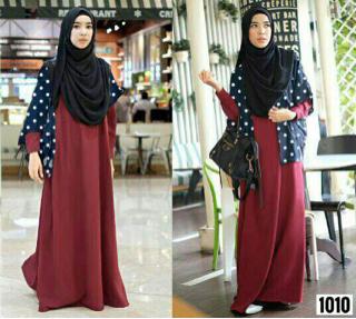 Model Gamis Terbaru Baju Muslim Wanita Modern Modis & Cantik
