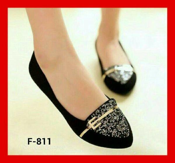 Sepatu Teplek Flat Shoes Model Terbaru Warna Hitam Cantik