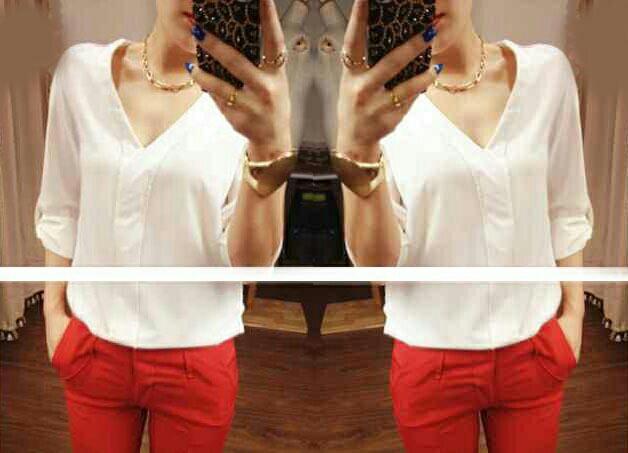 Baju Atasan Wanita Kerah V Model Terbaru Polos Cantik Modis Ryn