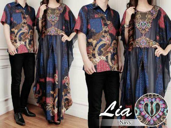 Baju Couple Batik Long Dress Kaftan Model Terbaru Keren Modern