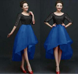 Baju Dress Brukat Pendek Cantik Model Terbaru Modern dan Murah