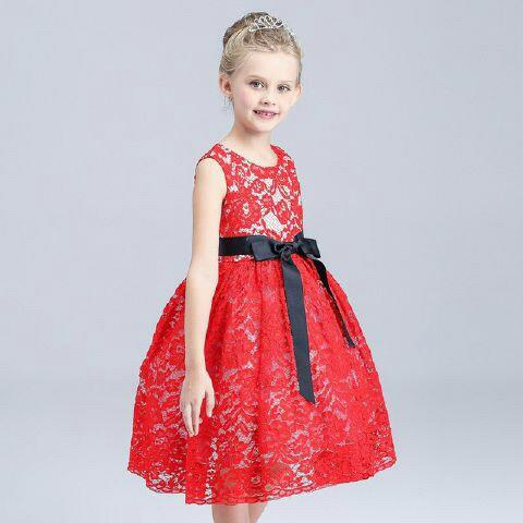 Baju Dress Brukat Pesta Anak Perempuan Model Terbaru