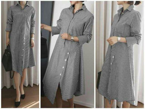 Baju Dress Lengan Panjang Cantik Model Terbaru Modern dan Murah
