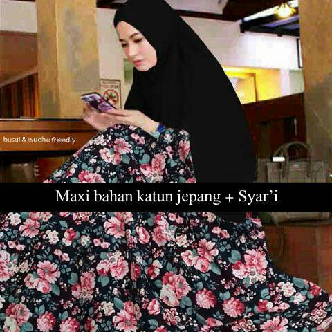 Baju Gamis Syari Model Terbaru Motif Bunga Cantik dan Modis