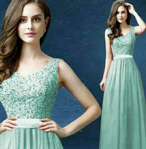 """Baju Gaun Long Dress Cantik """"Exotic Tosca"""" Model Terbaru"""
