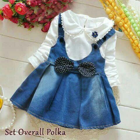 Baju Jumpsuit Overall Dress Anak Perempuan Model Terbaru