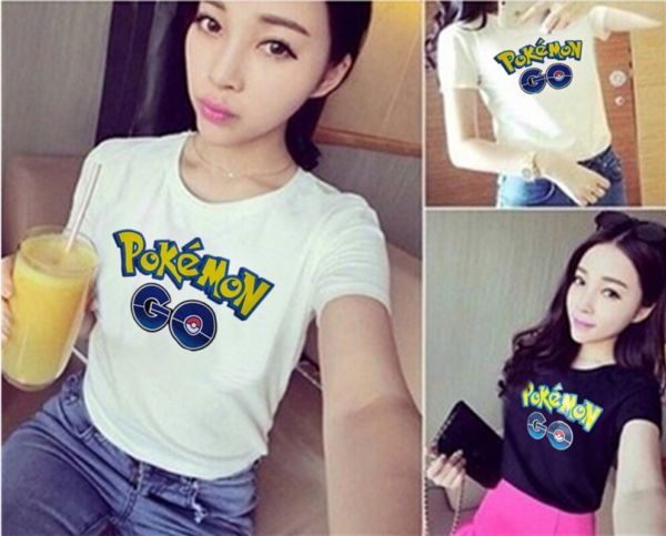 Baju Kaos Pokemon Go Pendek Wanita Modern Modis dan Murah