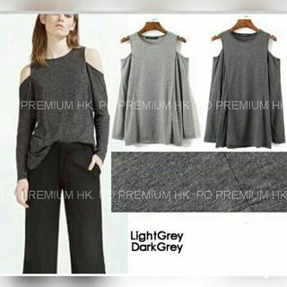 Baju Kaos Wanita Lengan Panjang Polos Modis Model Terbaru