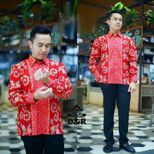 Baju Kemeja Pria Lengan Panjang Hem Motif Batik Model Terbaru