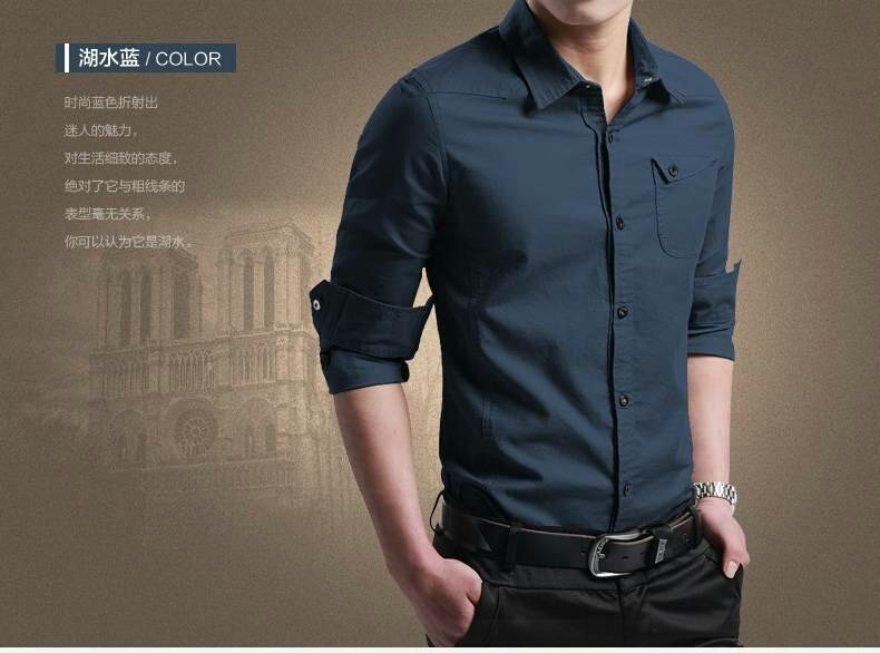 Baju Kemeja Pria Polos Lengan Panjang Keren Model Slim Fit Terbaru Ryn Fashion