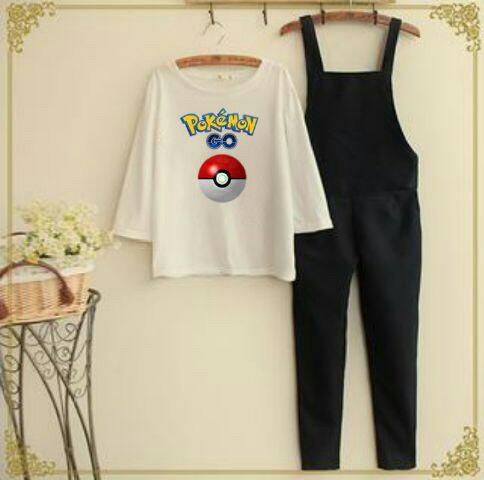 Baju Kodok Setelan Jumpsuit Pokemon Go Wanita Dewasa