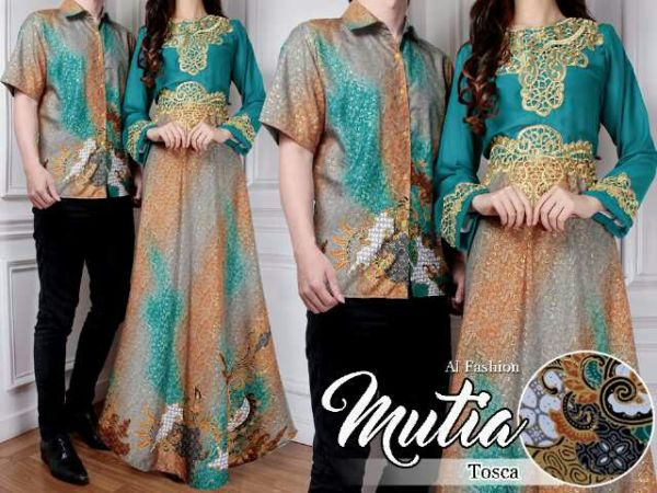 Baju Long Dress Batik Couple Muslim Model Terbaru