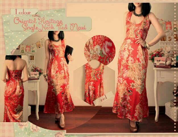 Baju Long Dress Modern Desain Oriental Cantik Model Terbaru Murah
