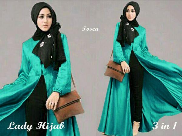 Baju Setelan Hijab Celana Model Terbaru Cantik Modern