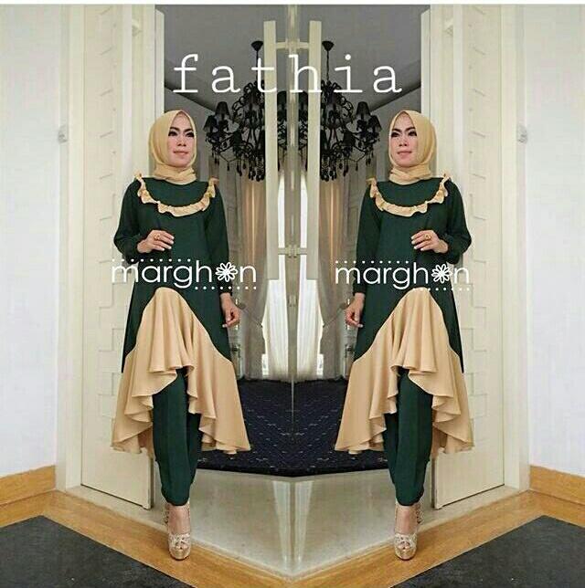 Baju Setelan Hijab Celana Wanita Dewasa 3 in 1 Modern Terbaru