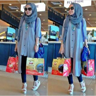 Baju Setelan Hijab Dewasa 3 in 1 Tunik Model Terbaru Modis dan Murah