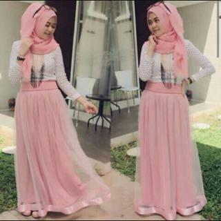 Baju Setelan Hijab Rok Tile Wanita Dewasa Model Terbaru Murah