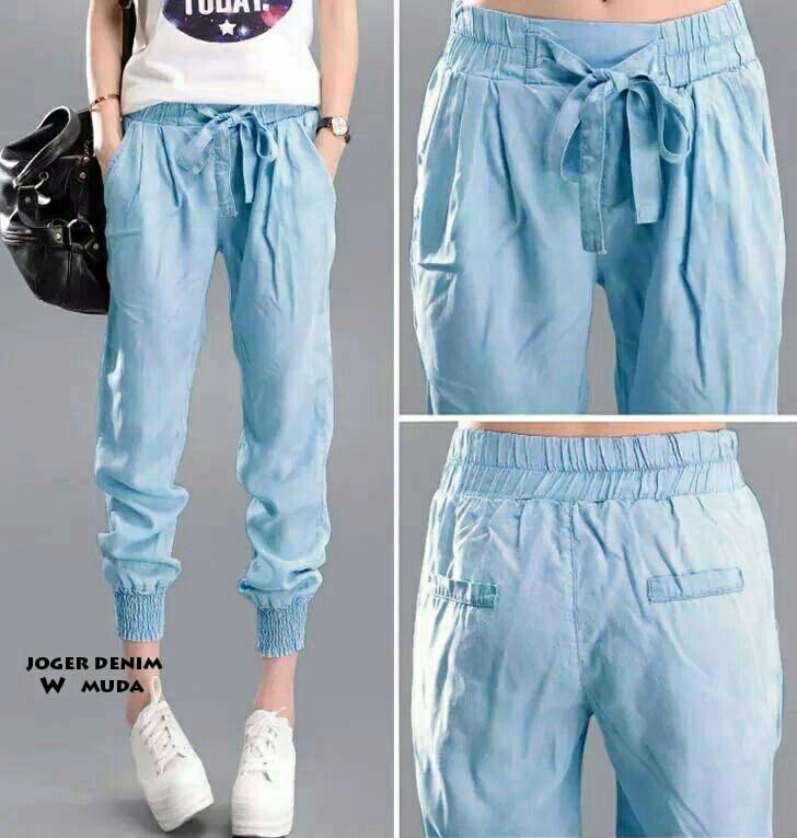 66+  Celana Jeans Jogger Wanita Murah Paling Keren Gratis