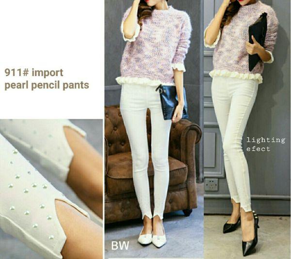 Celana Lengging Jegging Pants Pencil Warna Putih Model Terbaru