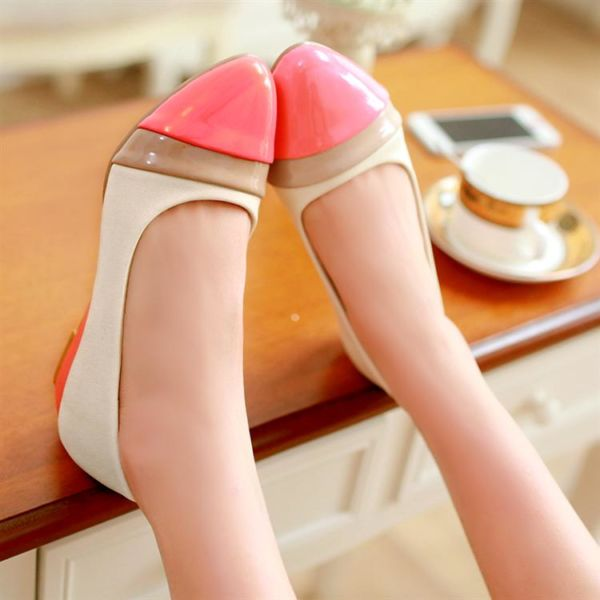 Flat Shoes Sepatu Pink Cantik dan Murah Model Terbaru