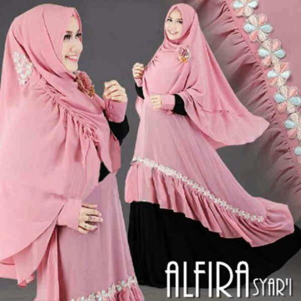 Model Baju Gamis Syari Terbaru Desain Busana Muslim Wanita Modern
