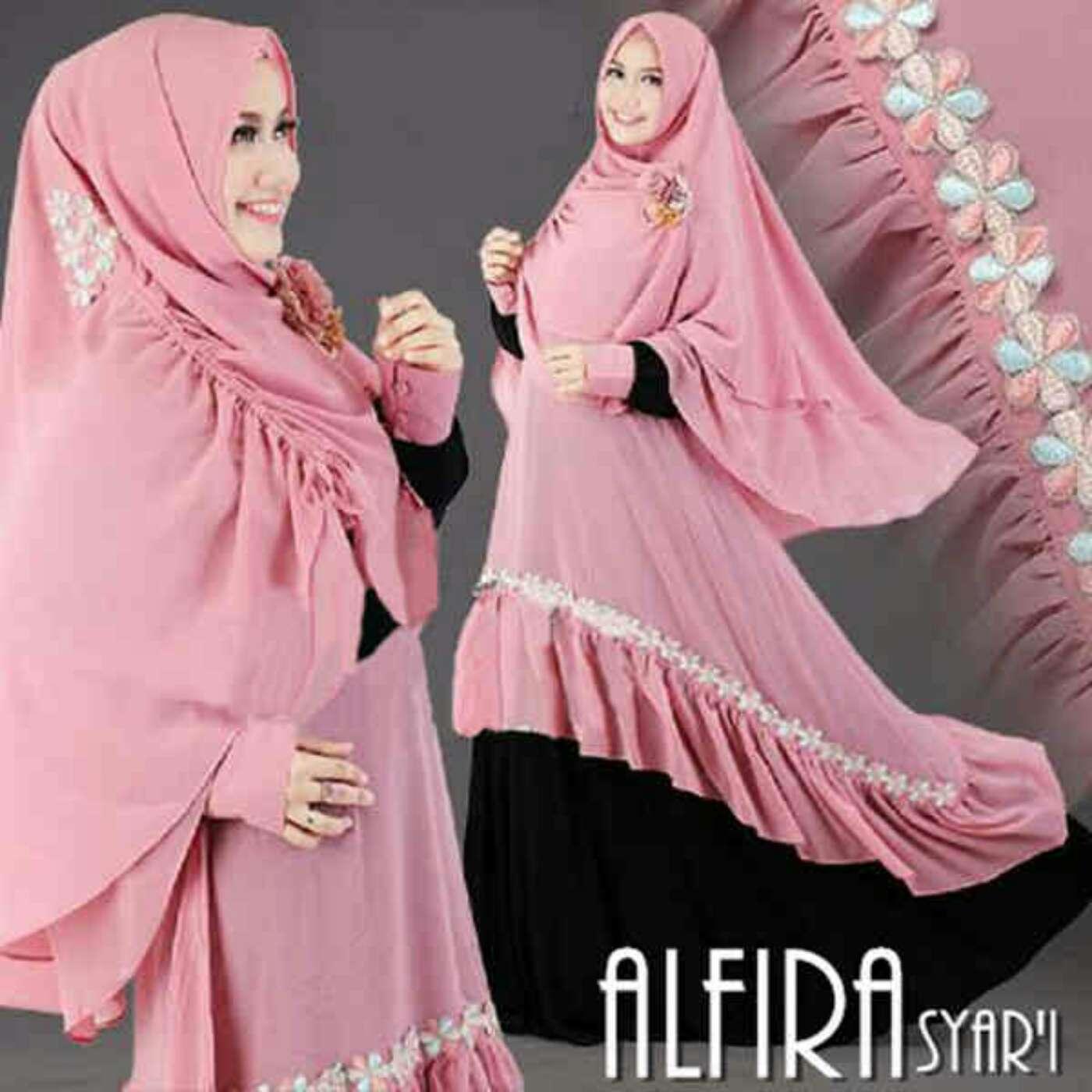 Model Baju Gamis Syari Terbaru Desain Busana Muslim Wanita
