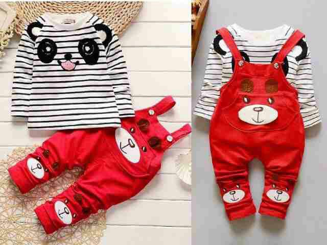 Model Baju Jumpsuit Panda Merah Anak Laki-laki Keren Terbaru
