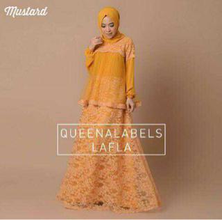 Model Gamis Brukat Cantik Terbaru Baju Muslim Wanita Modern