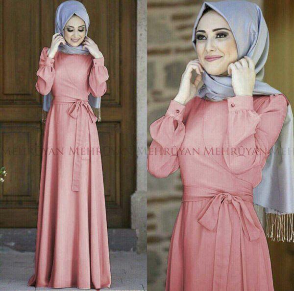 Model Gamis Terbaru Baju Long Dress Muslim Setelan Hijab Modis
