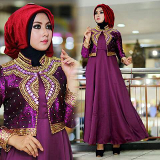 Model Gamis Terbaru Baju Setelan Muslim Wanita Modern