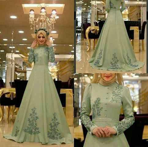 Model Gamis Terbaru Busana Muslim Wanita Modern Cantik Mewah