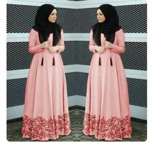 Model Gamis Terbaru Busui Baju Long Dress Muslim Wanita Modern