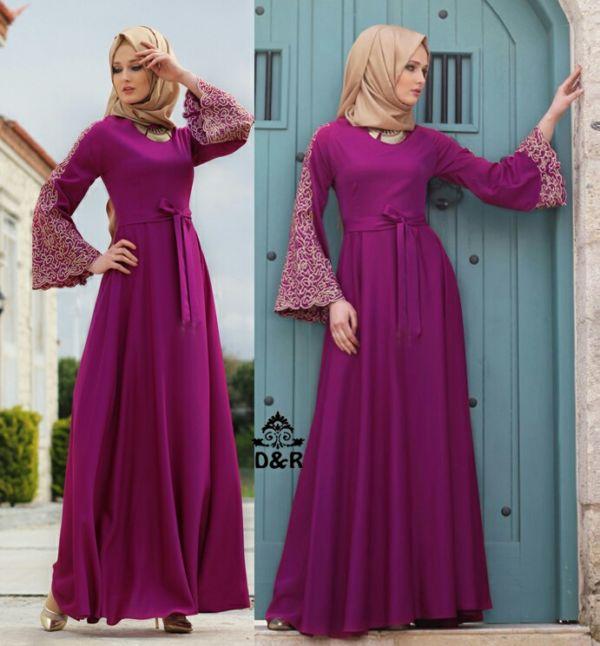 Model Gamis Terbaru Setelan Baju Muslim Wanita Modern