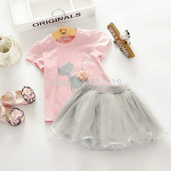Model Setelan Baju dan Rok Mini Anak Perempuan Cantik Lucu