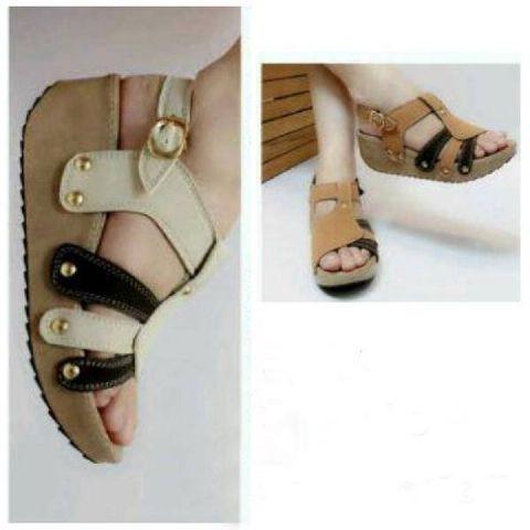 Sandal Wedges Cantik Model Terbaru Selempang Modern & Murah