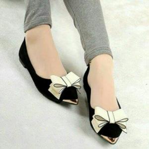 Sepatu Teplek (Flat Sahoes) Wanita Model Terbaru Desain Pita Cantik