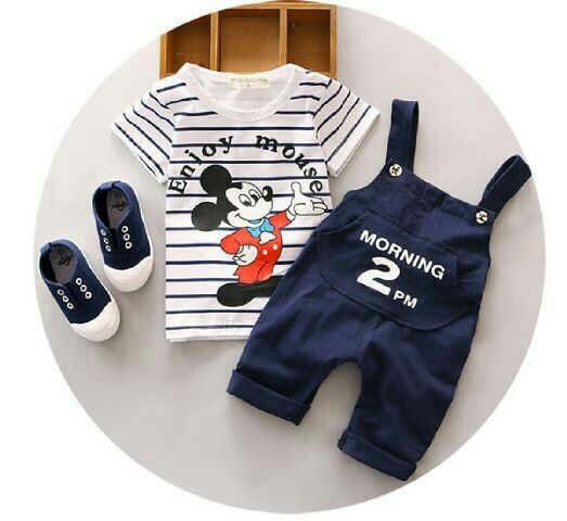 Setelan Baju Jumpsuit Anak Laki-laki Micke Mouse Keren