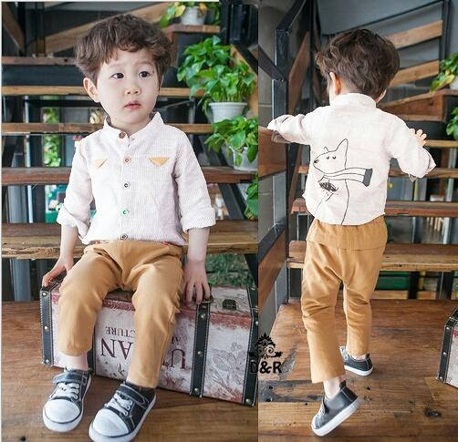 Setelan Baju Kemeja Panjang Anak Laki-laki Model Terbaru Keren