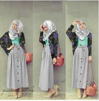 Setelan Hijab Model Terbaru baju Muslim Wanita Modern dan Murah