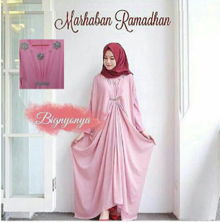 Setelan Long Dress Kaftan Baju Muslim Wanita Modern Terbaru