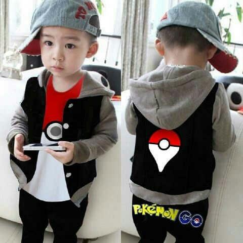 Setelan Pokemon Go Kids Baju Anak Laki-laki Model Terbaru Keren