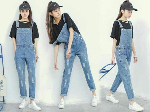 Baju Celana Kodok Jeans Panjang Wanita Dewasa Model Terbaru